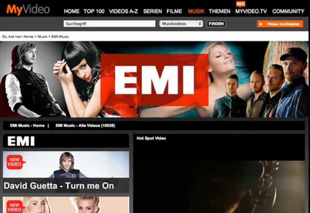 EMI MyVideo Channel